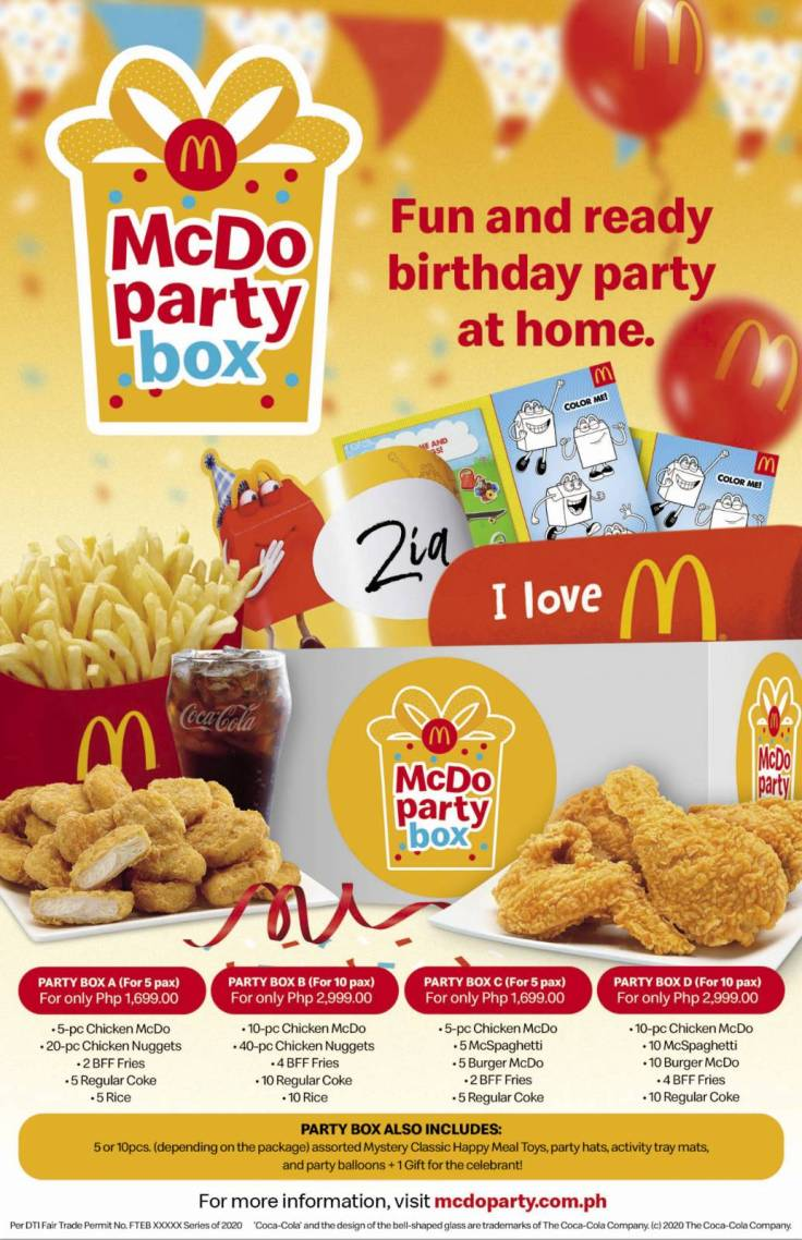 McDo Party Box 1