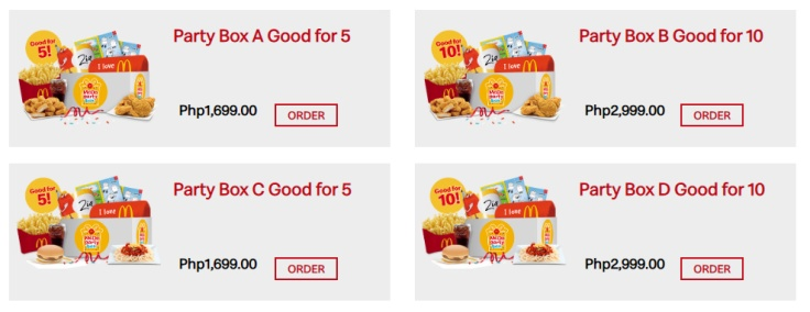 Mcdopartyboxchoices