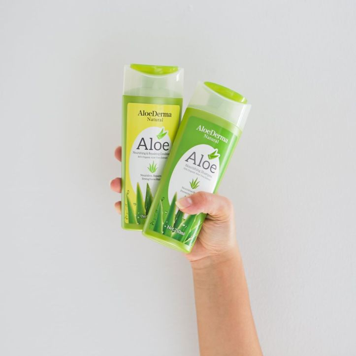 AloeDerma shampoo and conditioner