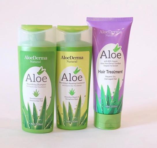 AloeDerma shampoo, conditioner, hair treatment