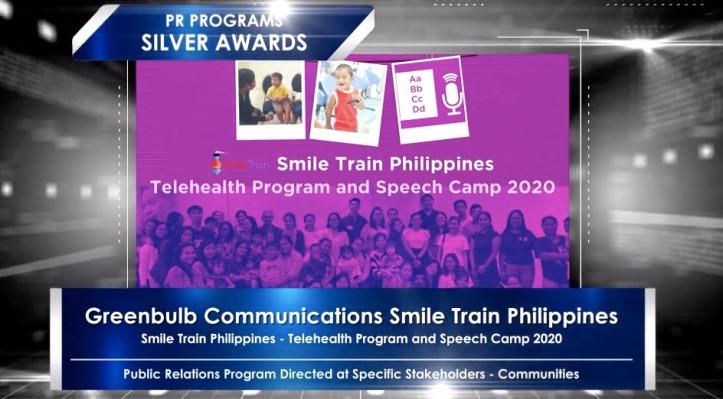 Smile Train-Anvil Silver Award