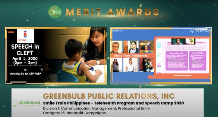 Smile Train-Merit Quill Award
